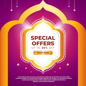 Ramadan sale banner or social media template