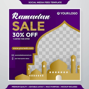 Ramadan sale banner template