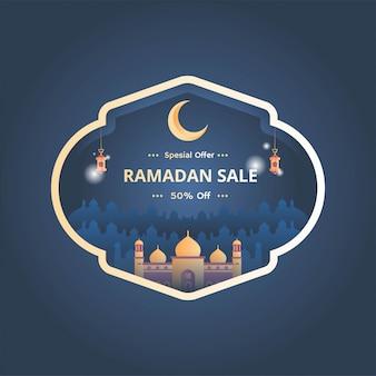 Ramadan sale banner vector illustration