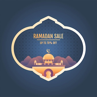 Ramadan sale banner vector illustration