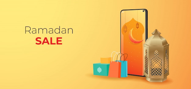 Ramadan sale banners template, discount and promotion design. best label tag on occasion of ramadan kareem and eid mubarak,
