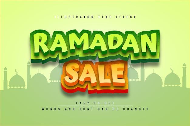 라마단 판매 편집 가능한 텍스트 효과 디자인