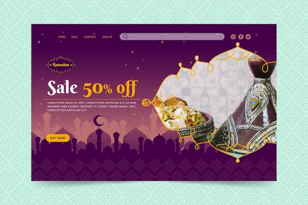 라마단 판매 방문 페이지 템플릿