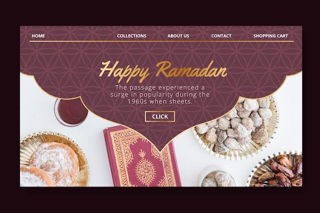 Modello di pagina di destinazione per la vendita di ramadan