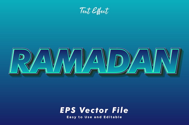 Ramadan text effect. editable and easy to use. typography effect