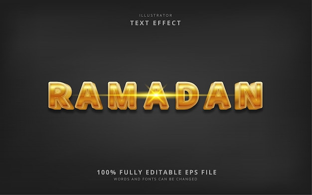 Ramadan text effect