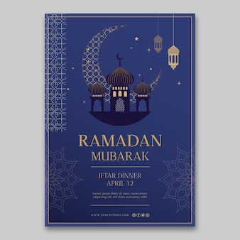 Ramadan vertical poster template