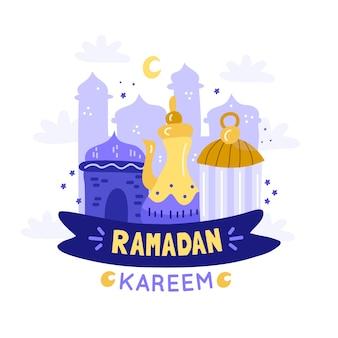 Ramadan with moon