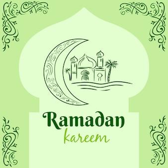 Ramadan with palace and moon