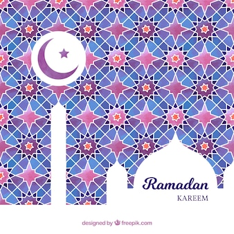 Фон ramadán с красочными мозаиками