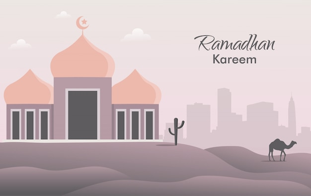 Ramadhan event concept banner template.