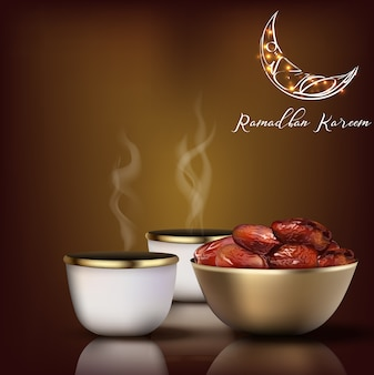 Ramadhan kareem greeting. iftar celebration