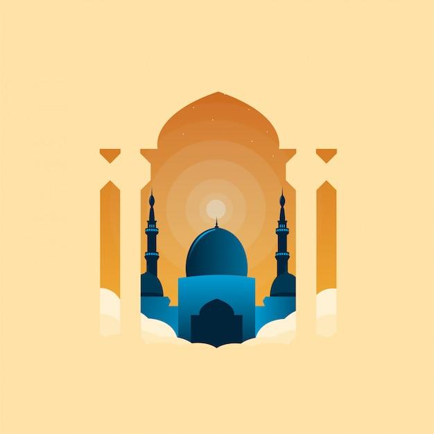 Ramadhan mosque illustration