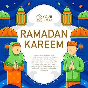 Ramadhan square design in flat design style