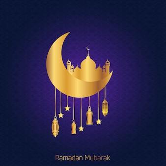 Ramdan kareem cresent moon