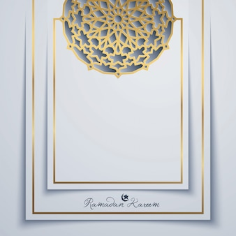 Ramdan kareem islamic vector background design