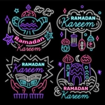 Ramdan leetering neon sign concept