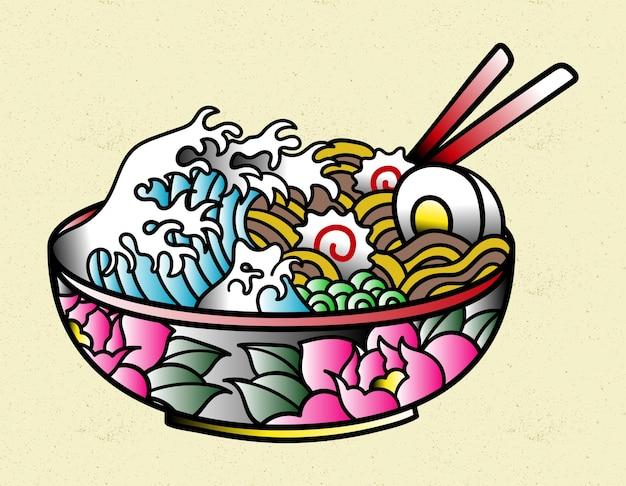 Рамэн еда японская