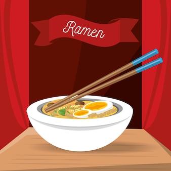 Ramen japanese dish menu restaurant