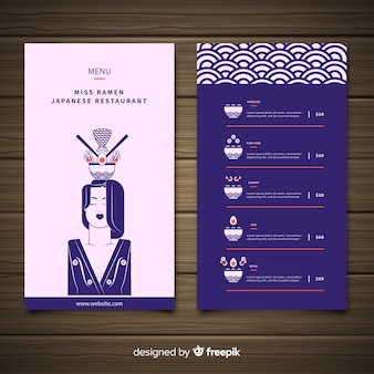 Ramen japanese restaurant menu template