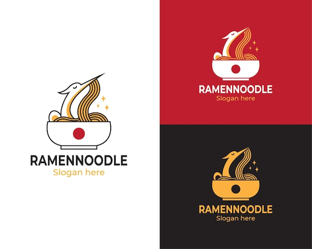 コウノトリとラーメンのロゴ