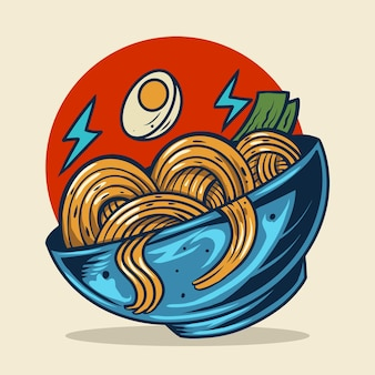 Ramen noodle vector illustration design