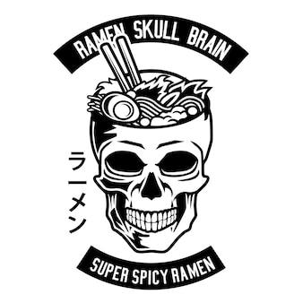 Ramen skull brain