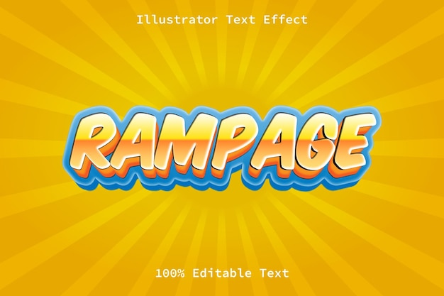 Rampage with cartoon style editable text effect