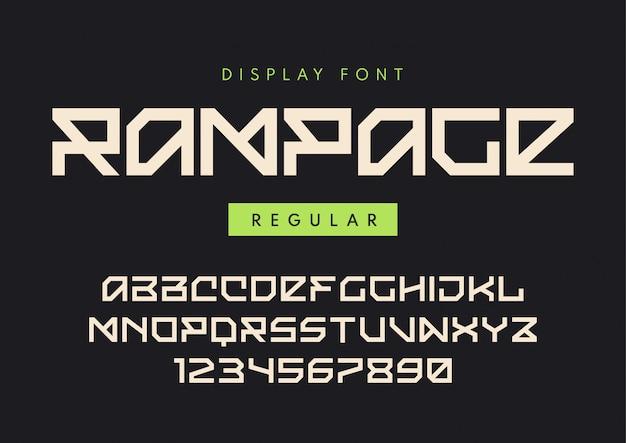 Rampage、ブロック状書体という名前のモダンな通常の表示フォント