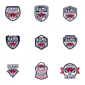 Rams дизайн шаблоны логотипов