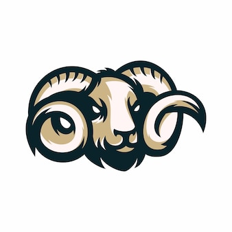 Rams - vector icon illustration mascot