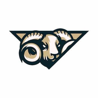 Баранов - векторный значок иллюстрации талисман