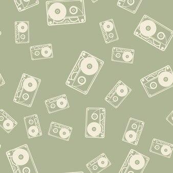 임의의 카세트 패턴, 음악 그림입니다. 창의적이고 고급스러운 커버