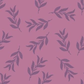 Случайные листвы каракули силуэты бесшовный фон