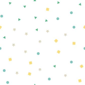Шаблон случайных геометрических фигур. абстрактный фон. креативные и роскошные цвета стиля иллюстрации
