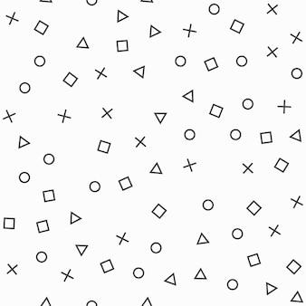 Шаблон случайных геометрических фигур, абстрактный фон. простая геометрическая иллюстрация. креативный и роскошный стиль