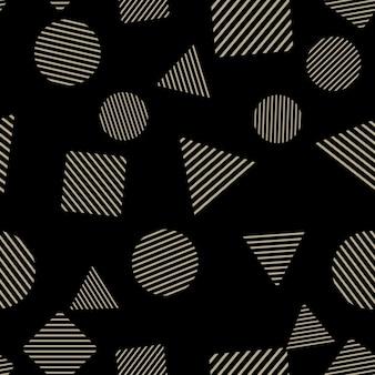 섬유, 추상적인 배경에 임의의 기하학적 모양 패턴입니다. 창의적이고 고급스러운 스타일의 일러스트레이션