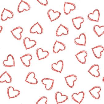 임의의 하트 패턴입니다. 휴일 서식 파일에 대 한 발렌타인 데이 배경입니다. 창의적이고 고급스러운 스타일의 일러스트레이션
