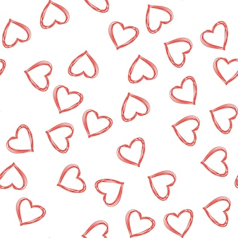 Random hearts pattern. valentines day background for holiday template. creative and luxury style illustration