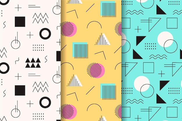 Random shapes memphis seamless pattern