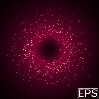 Random sized energy beams. pink version