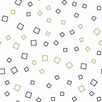 ランダムな正方形のパターン、抽象的な背景。幾何学的な簡単なイラスト。クリエイティブで贅沢なスタイル