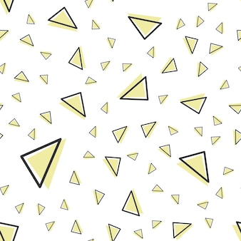 Random triangle pattern in 80s, 90s retro style. abstract geometric background