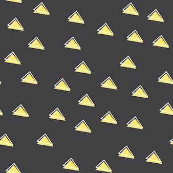 Случайный узор треугольников в стиле ретро 80-х, 90-х годов. абстрактный геометрический фон