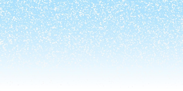 Random white dots christmas background. subtle flying snow flakes and stars on night sky background. adorable winter silver snowflake overlay template. gorgeous vector illustration.