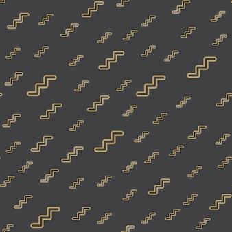 ランダムなジグザグパターン、80年代、90年代のレトロなスタイルの抽象的な幾何学的な背景。カラフルな幾何学的なイラスト