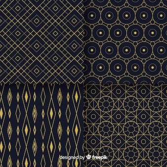 Randomize geometric pattern design collection