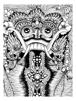Rangda barong traditional mask bali