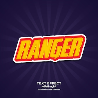 Ranger simple text effect with modern style