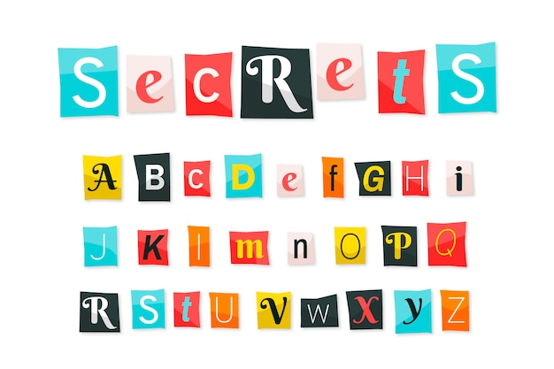 Ransom note letter collection paper style